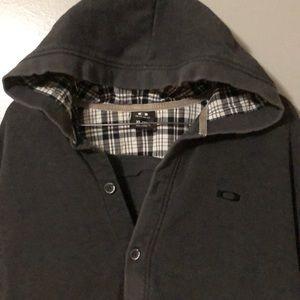 Oakley Mens Button down hoodie sweatshirt!